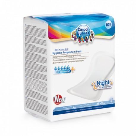 78/001 Vysoce absorpční tvarované vložky po porodu noční 10 ks Canpol 3078001