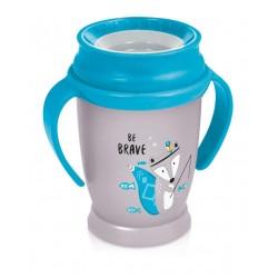 1/592 Hrníček LOVI 360 JUNIOR 250ml s úchyty bez BPA INDIAN modrý