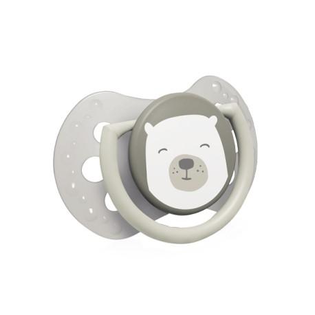 LOVI Dudlík s mini štítkem 0-2m silikonový dynamický BUDDY BEAR 0-2m 2ks