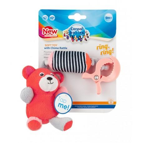 Canpol babies Plyšová hračka s klipem MEDVÍDCI červená Canpol 68/054_COR