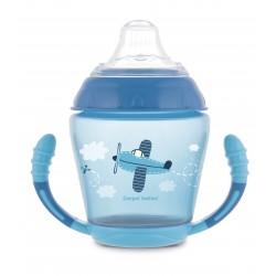 Canpol babies Nevylévací hrníček se silikonovým ventilem 230 ml TOYS modrý 56/502_blu