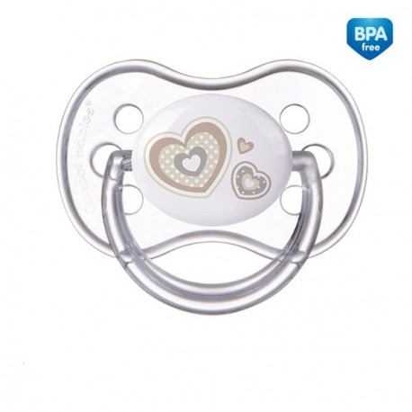 Canpol babies Dudlík 6-18m silikonový symetrický NEWBORN BABY