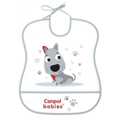 Canpol babies Plastový bryndák měkký HAPPY ANIMALS 2/919