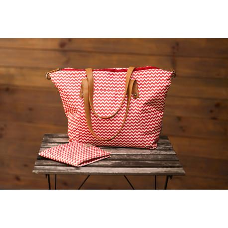Canpol babies Přebalovací taška na kočárek pro maminky červená Canpol 78/500