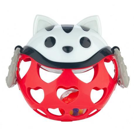 Canpol babies Interaktivní hračka míček s chrastítkem Červená kočička Canpol 79/101_RED