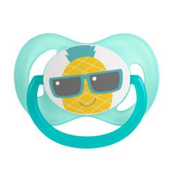 Canpol babies A - Dudlík 0-6m silikonový symetrický So Cool tyrkysový