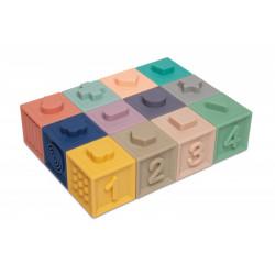 Canpol babies Měkké senzorické hrací kostky 12 ks