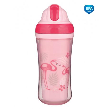 Canpol babies Sportovní láhev se silikonovou slámkou JUNGLE 260ml růžová Canpol 74/050