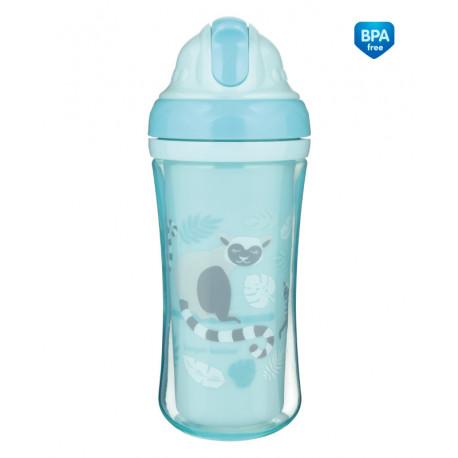 Canpol babies Sportovní láhev se silikonovou slámkou JUNGLE 260ml modrá Canpol 74/051