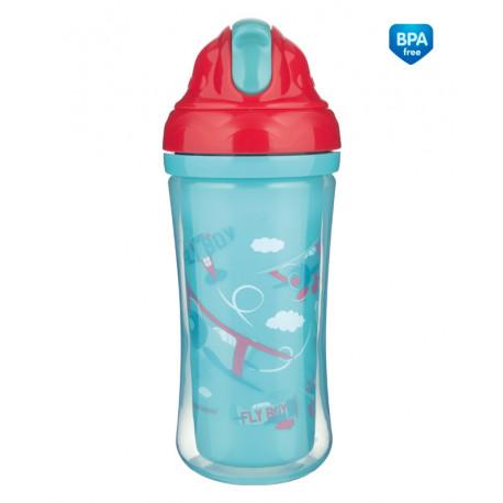 Canpol babies Sportovní láhev se silikonovou slámkou LETADLA 260ml  Canpol 74/052