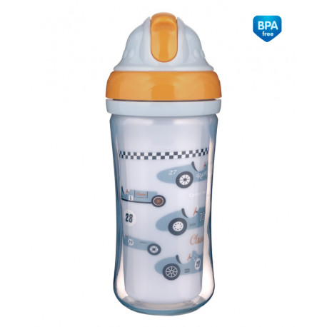 Canpol babies Sportovní láhev se silikonovou slámkou AUTA 260ml  Canpol 74/053