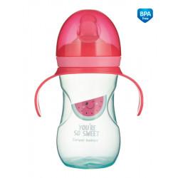 Canpol babies Tréninkový hrníček se silikonovým pítkem a úchyty SO COOL Meloun 270 ml