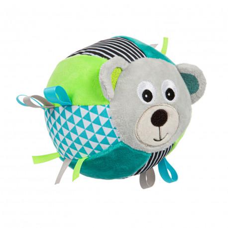 Canpol babies Plyšový senzorický míček MEDVÍDCI šedý Canpol 68/074_GREY