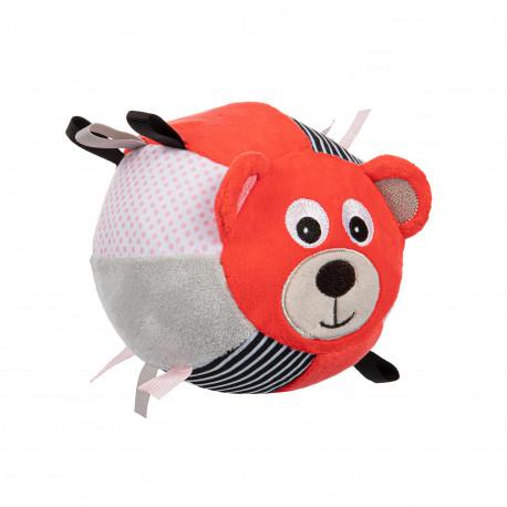 Canpol babies Plyšový senzorický míček MEDVÍDCI červený Canpol 68/074_COR