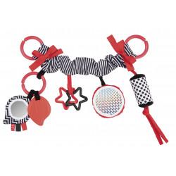 Canpol babies Kontrastní závěsná hračka na kočárek/autosedačku SENSORY