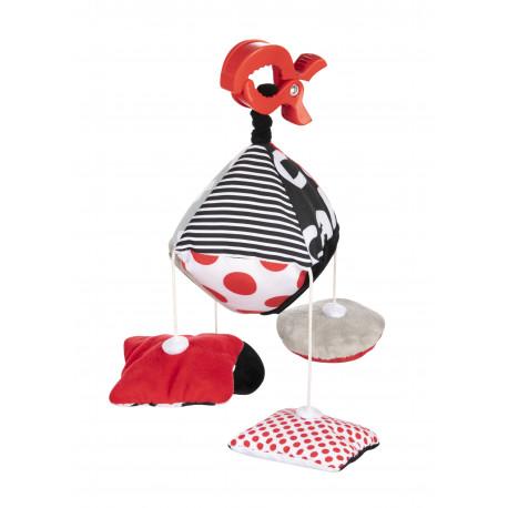 Canpol babies Kontrastní závěsná hračka s klipem SENSORY