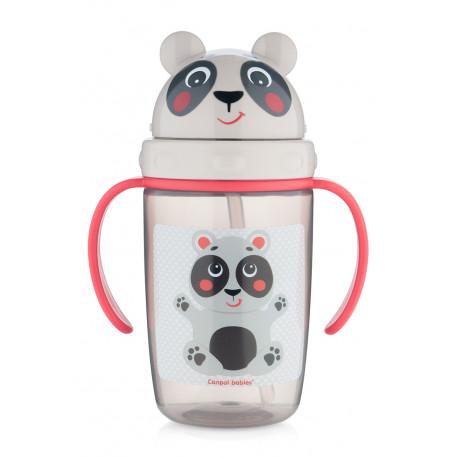 Canpol babies Hrníček se silikonovou slámkou HELLO LITTLE Koala 400ml