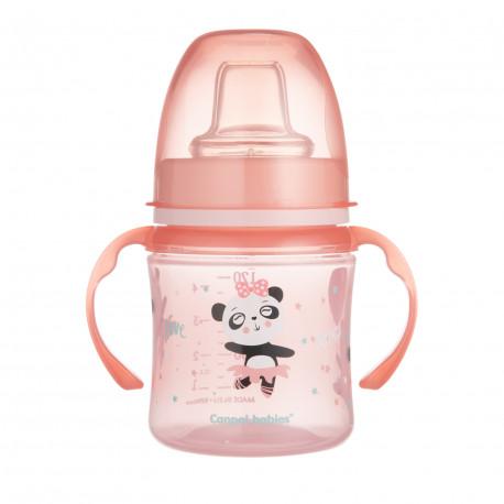 Canpol babies Tréninkový hrníček EXOTIC ANIMALS 120ml růžový