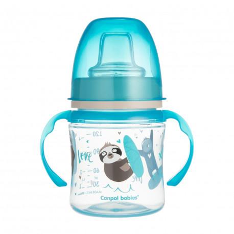 Canpol babies Tréninkový hrníček EXOTIC ANIMALS 120ml modrý