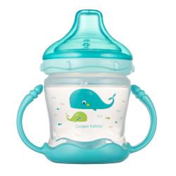 Canpol babies Nevylévací hrneček se silikonovým pítkem LOVE&SEA 180ml modrý
