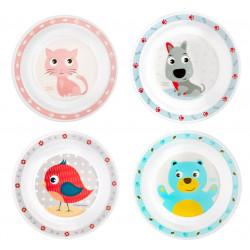 Canpol babies Plastový talíř CUTE ANIMALS 4/411