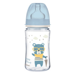 Canpol babies Lahev se širokým hrdlem ROYAL BABY 120ml modrá