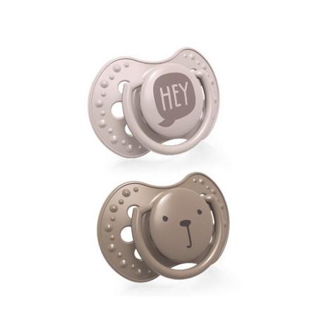 LOVI Dudlík silikonový dynamický HEY 3-6m 2ks