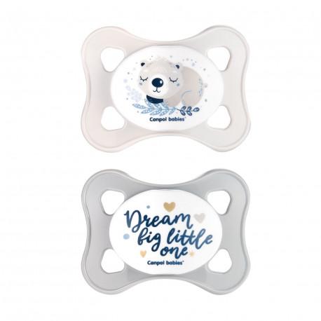 Canpol babies Set symetrických silikonových MINI dudlíků 0-2m SLEEPY KOALA