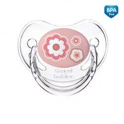 Canpol babies Dudlík 18m+ silikonový anatomický NEWBORN BABY růžový