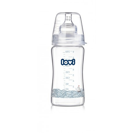 74/201 Láhev LOVI Diamond Glass 250ml Marine